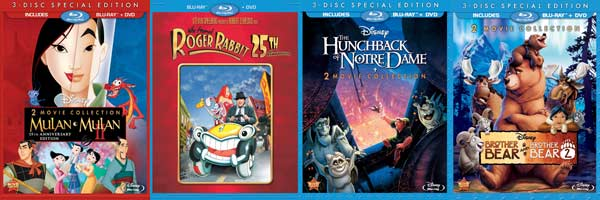 Disney Blu-ray covers
